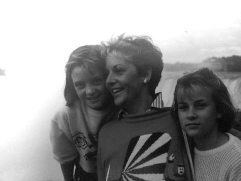Me emma and Mum b&w