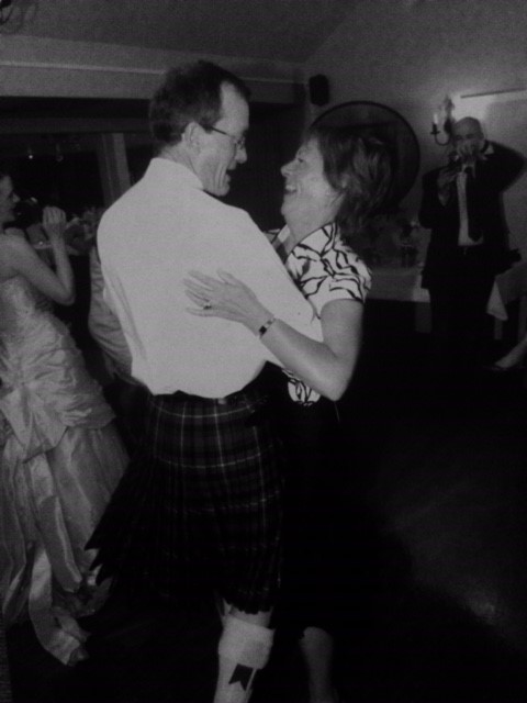 Mum and dad dancing